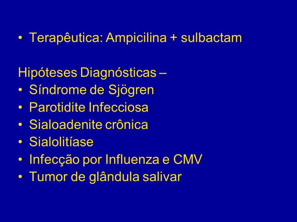 Terapêutica: Ampicilina + sulbactam