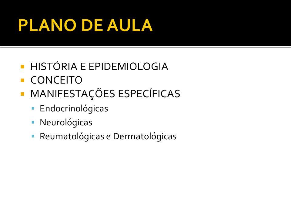 PLANO DE AULA HISTÓRIA E EPIDEMIOLOGIA CONCEITO