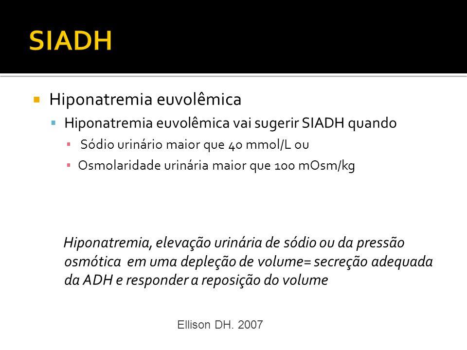SIADH Hiponatremia euvolêmica