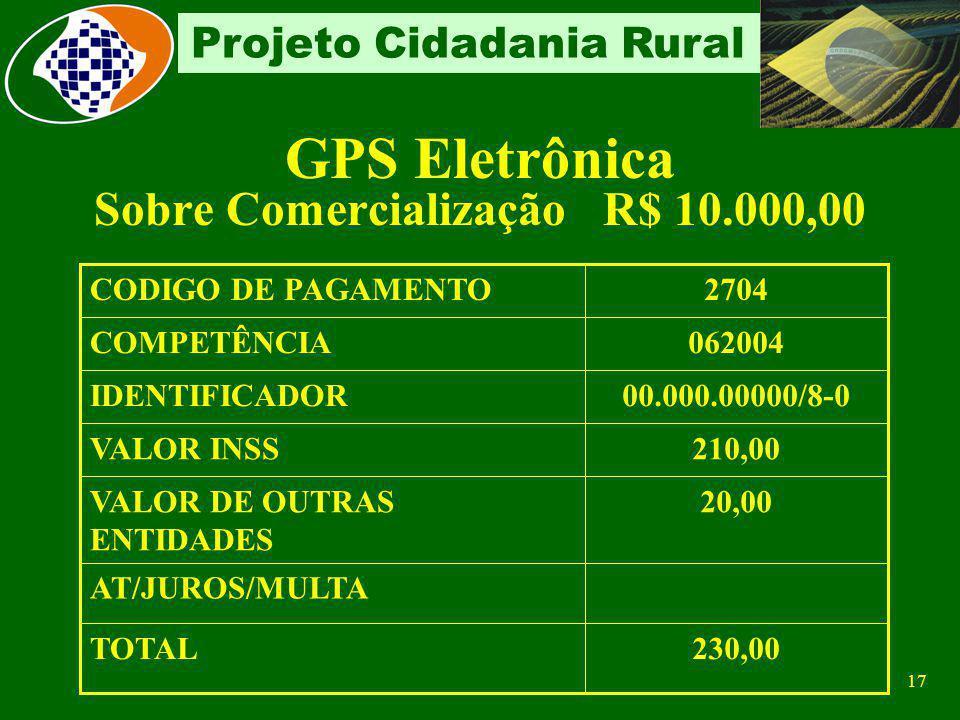Sobre Comercialização R$ 10.000,00