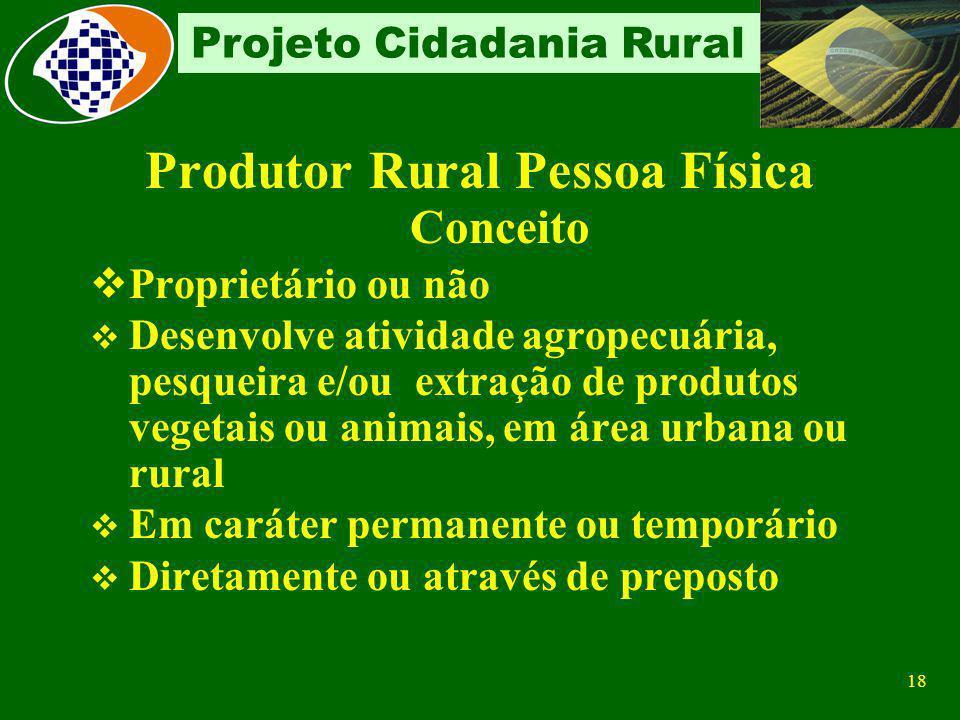 Produtor Rural Pessoa Física Conceito
