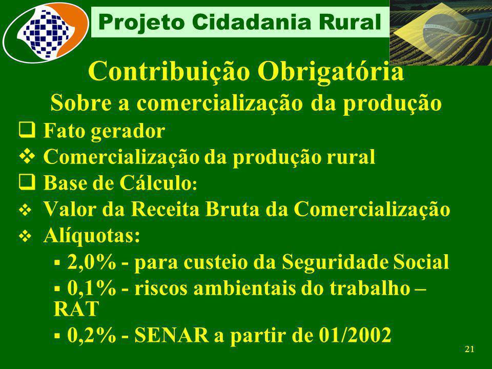 Contribuição Obrigatória Sobre a comercialização da produção