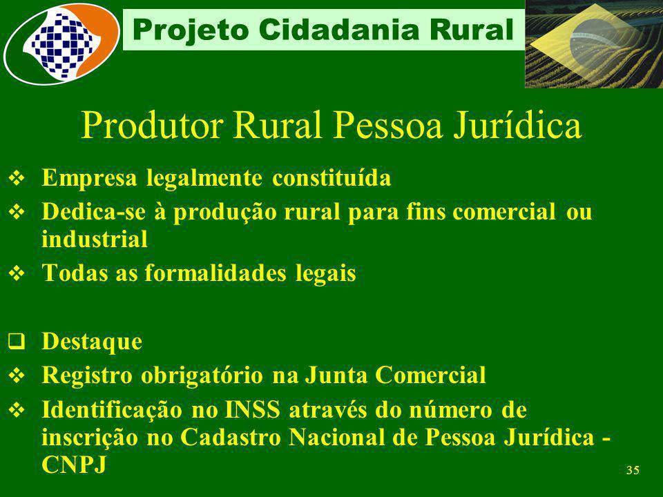 Produtor Rural Pessoa Jurídica