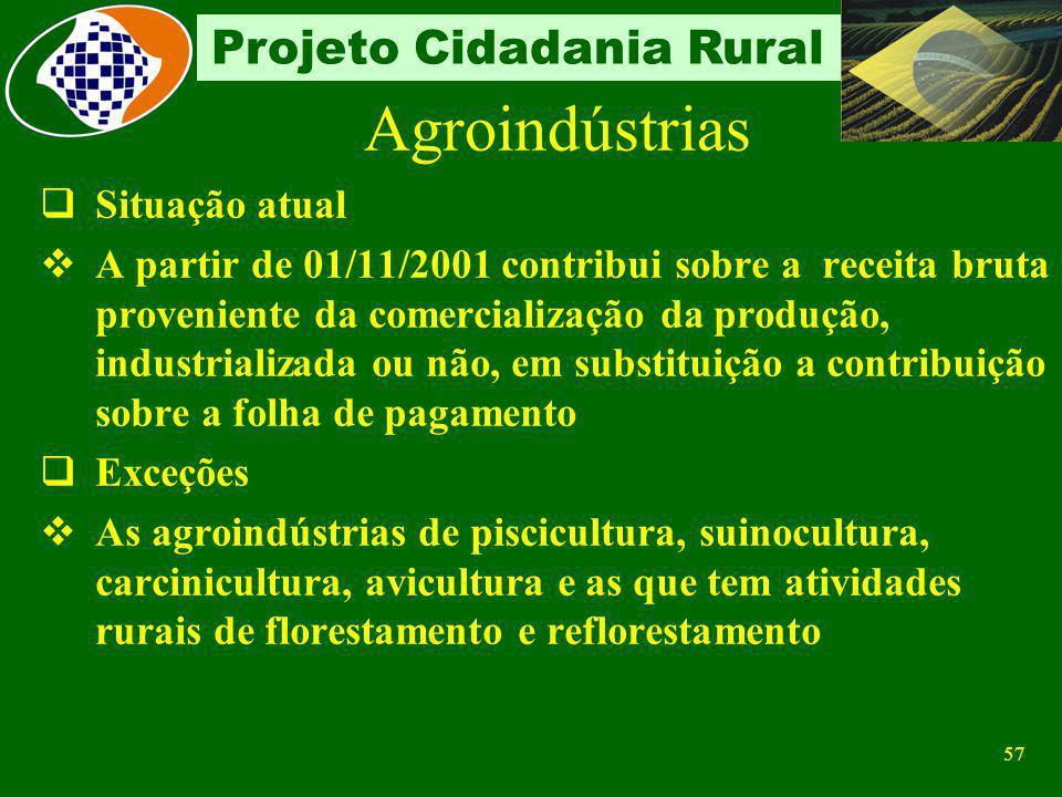 Agroindústrias Situação atual