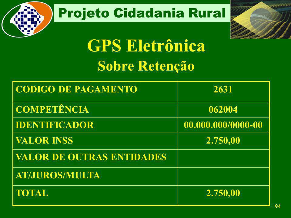 GPS Eletrônica Sobre Retenção 2.750,00 TOTAL AT/JUROS/MULTA