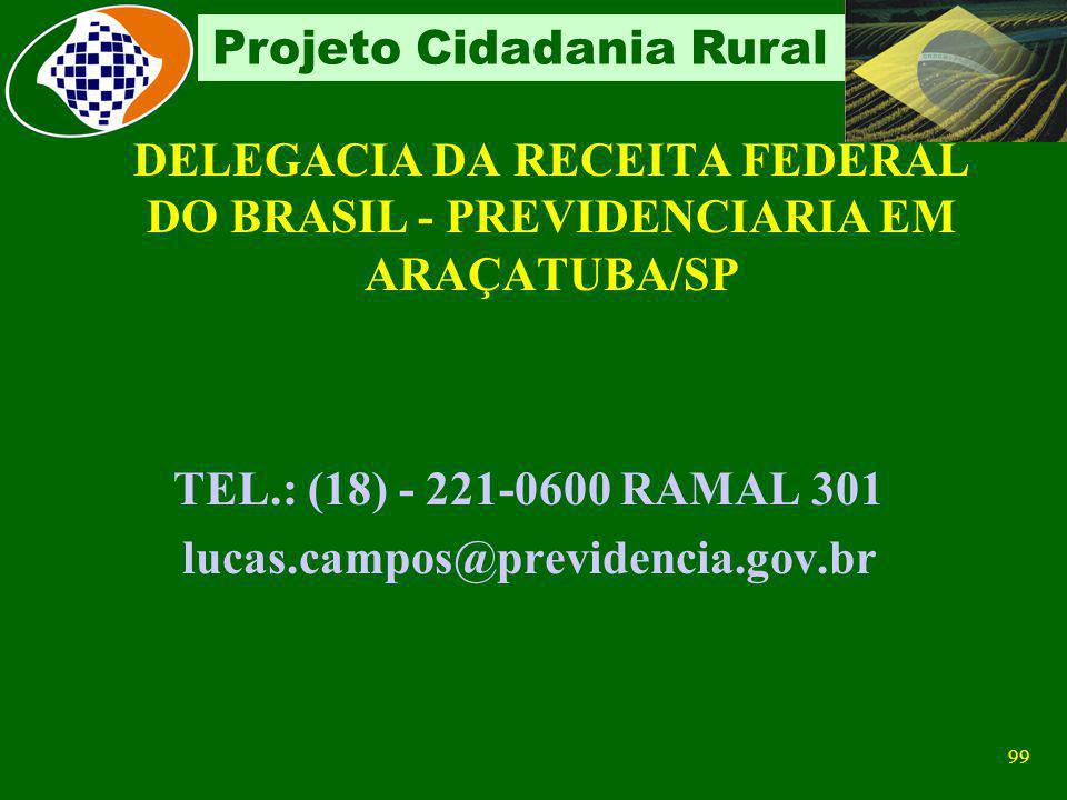TEL.: (18) - 221-0600 RAMAL 301 lucas.campos@previdencia.gov.br
