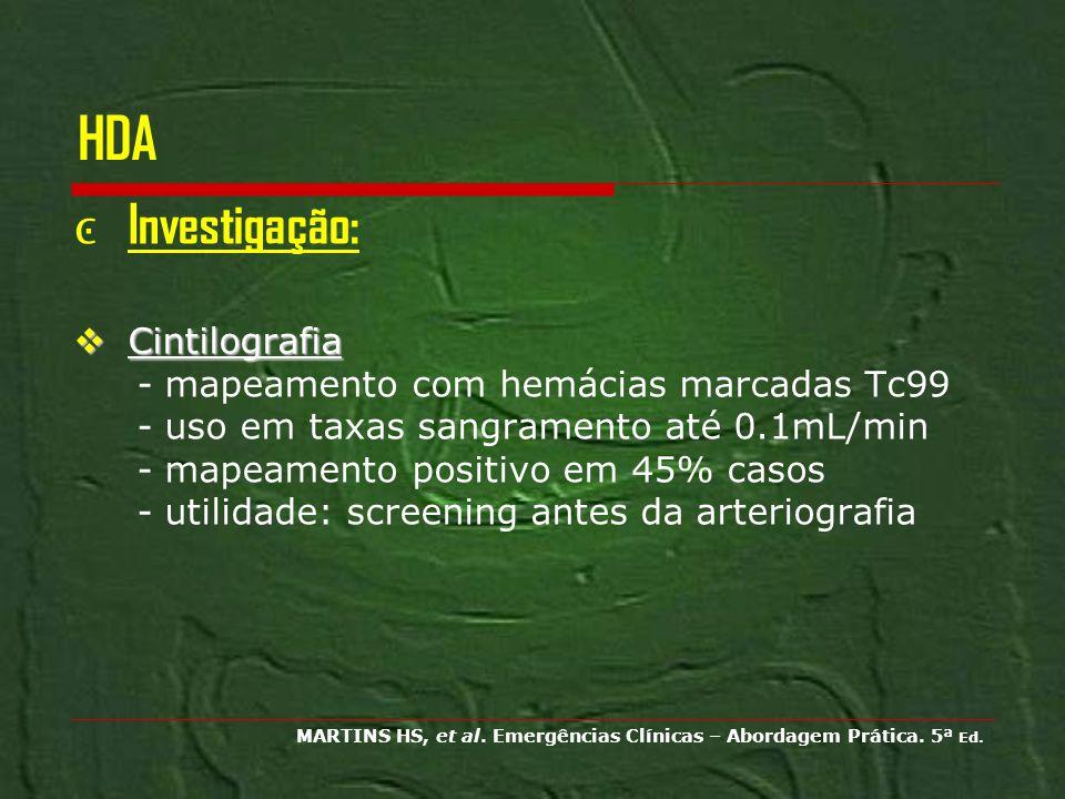 HDA Investigação: Cintilografia