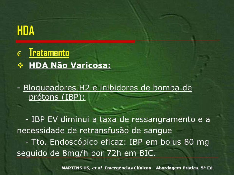 HDA Tratamento HDA Não Varicosa: