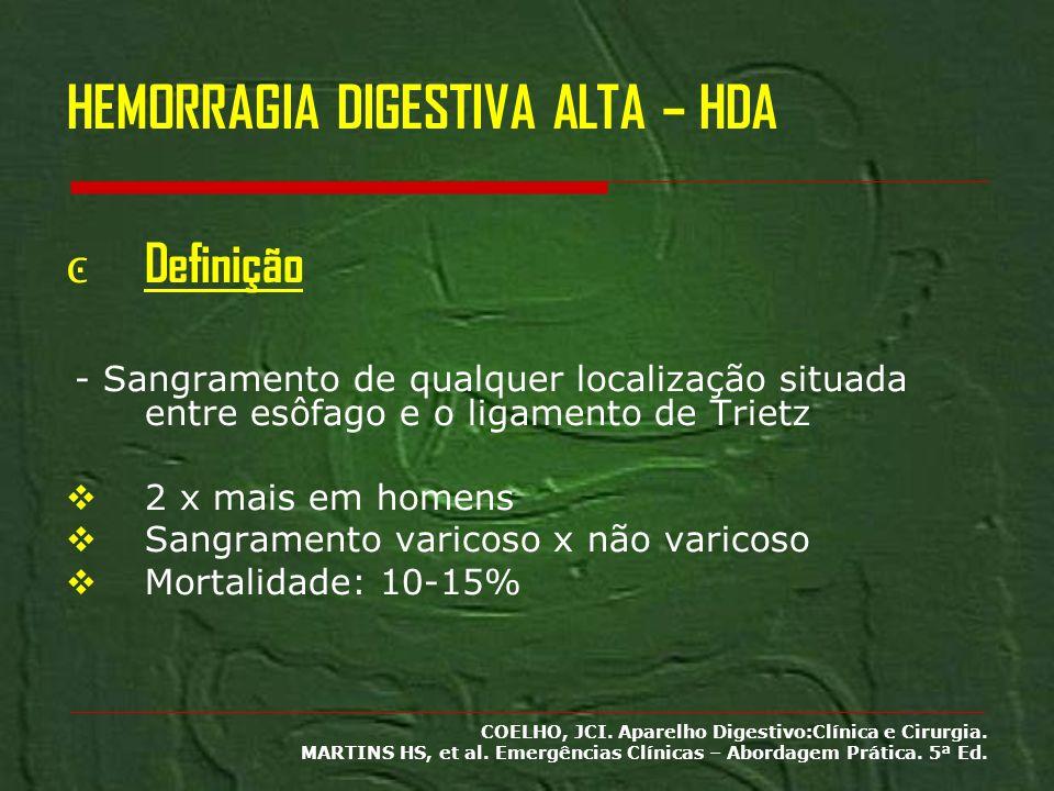 HEMORRAGIA DIGESTIVA ALTA – HDA