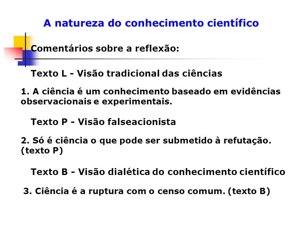 A natureza do conhecimento científico