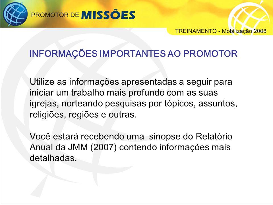 INFORMAÇÕES IMPORTANTES AO PROMOTOR
