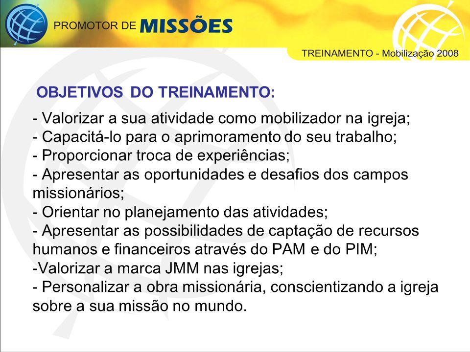 OBJETIVOS DO TREINAMENTO: