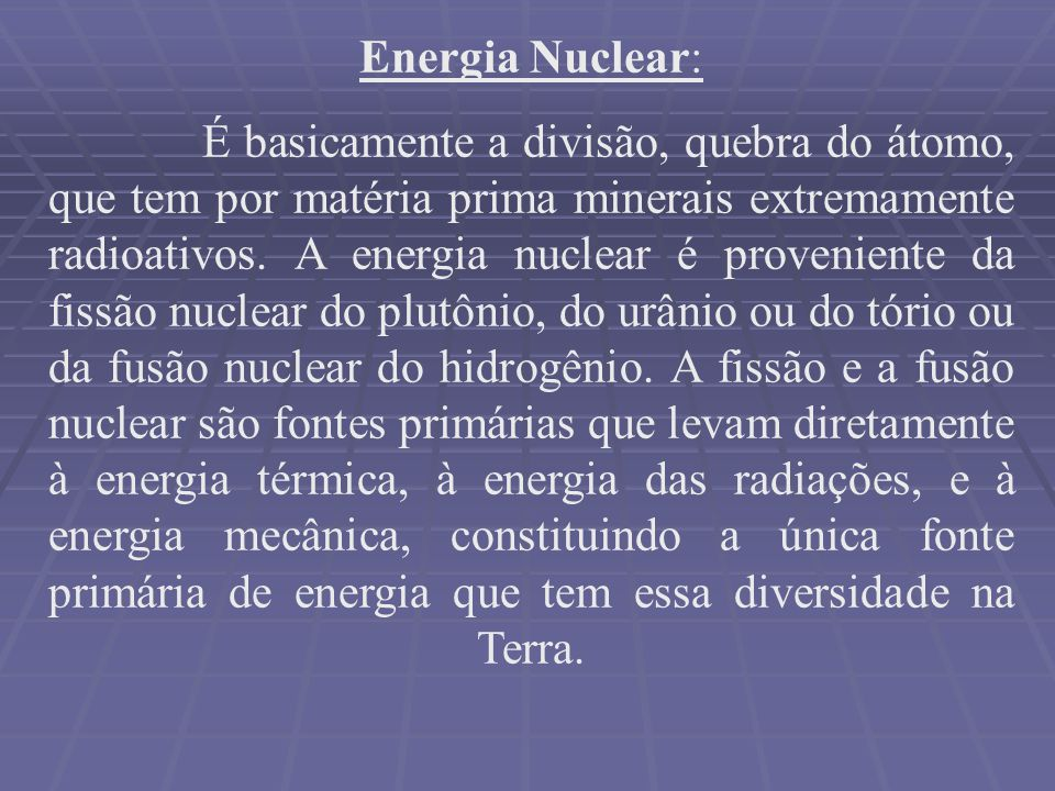 Energia Nuclear: