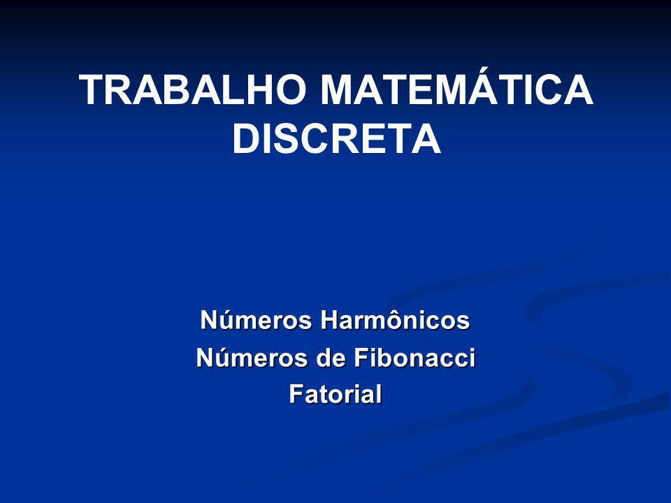 TRABALHO MATEMÁTICA DISCRETA