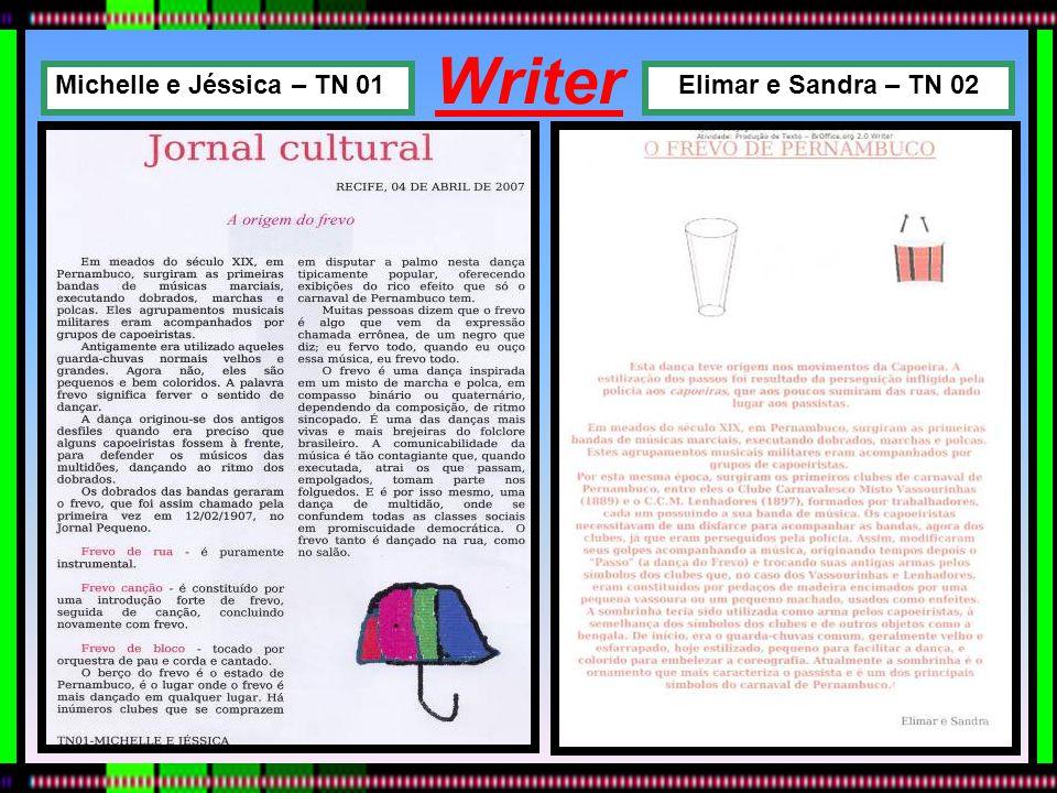 Writer Michelle e Jéssica – TN 01 Elimar e Sandra – TN 02