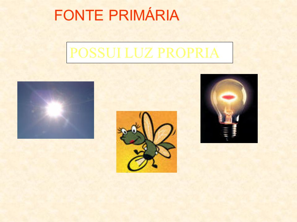 FONTE PRIMÁRIA POSSUI LUZ PROPRIA