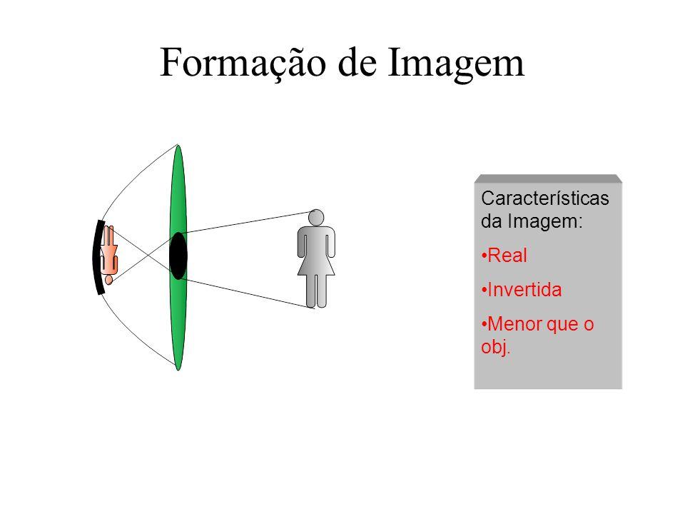 Formação de Imagem Características da Imagem: Real Invertida