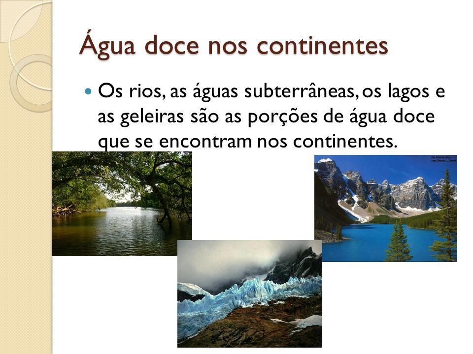 Água doce nos continentes