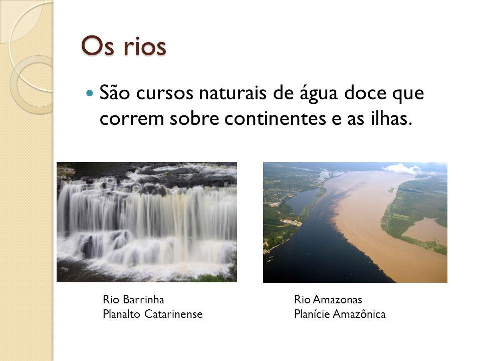Os rios São cursos naturais de água doce que correm sobre continentes e as ilhas. Rio Barrinha. Planalto Catarinense.