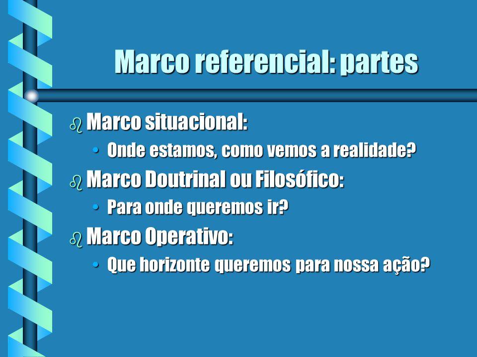 Marco referencial: partes