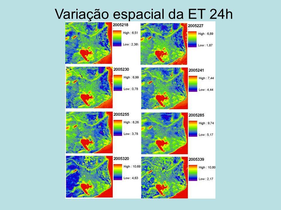 Variação espacial da ET 24h