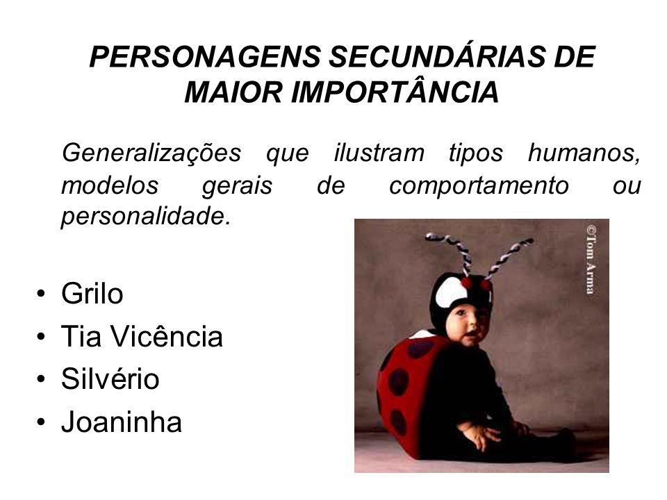 PERSONAGENS SECUNDÁRIAS DE MAIOR IMPORTÂNCIA