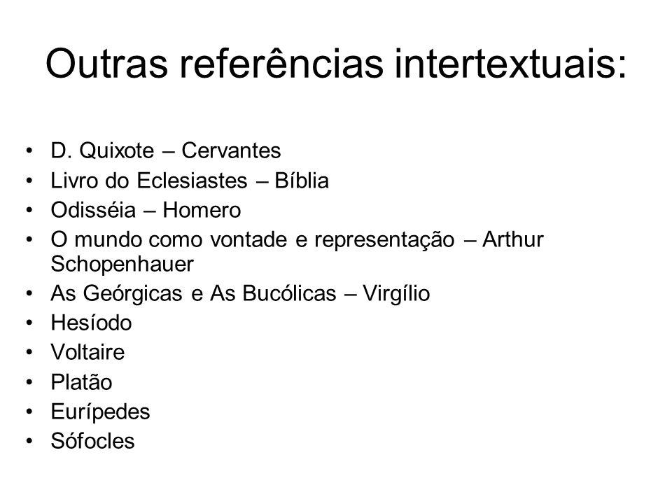 Outras referências intertextuais: