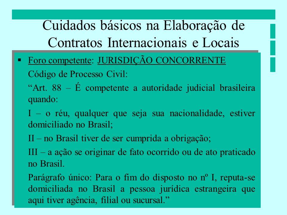 Cuidados básicos na Elaboração de Contratos Internacionais e Locais