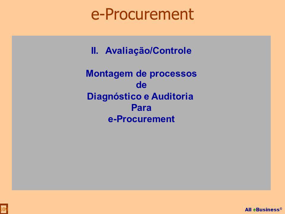 II. Avaliação/Controle Diagnóstico e Auditoria
