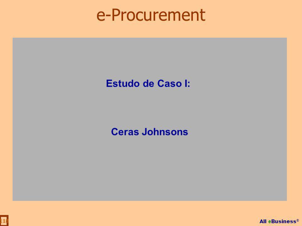 e-Procurement Estudo de Caso I: Ceras Johnsons
