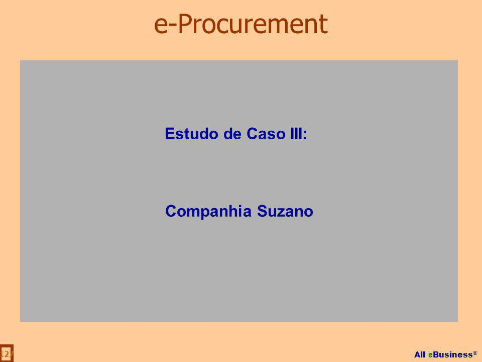 e-Procurement Estudo de Caso III: Companhia Suzano