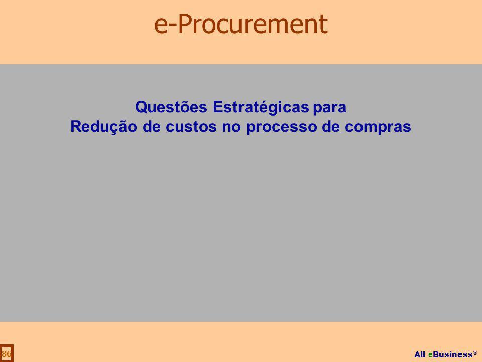 Questões Estratégicas para Redução de custos no processo de compras
