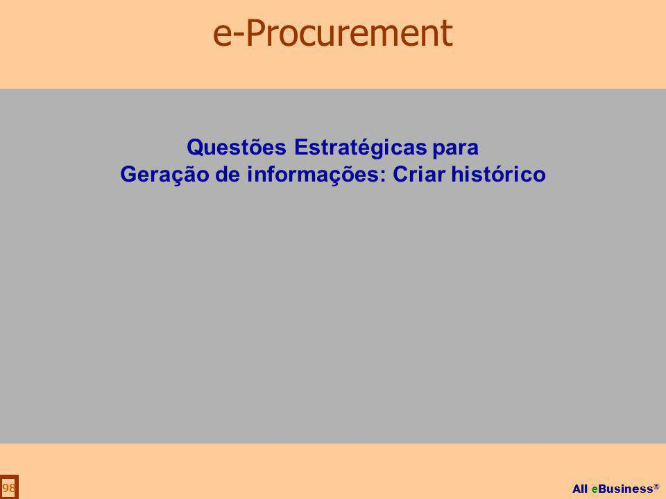 Questões Estratégicas para Geração de informações: Criar histórico