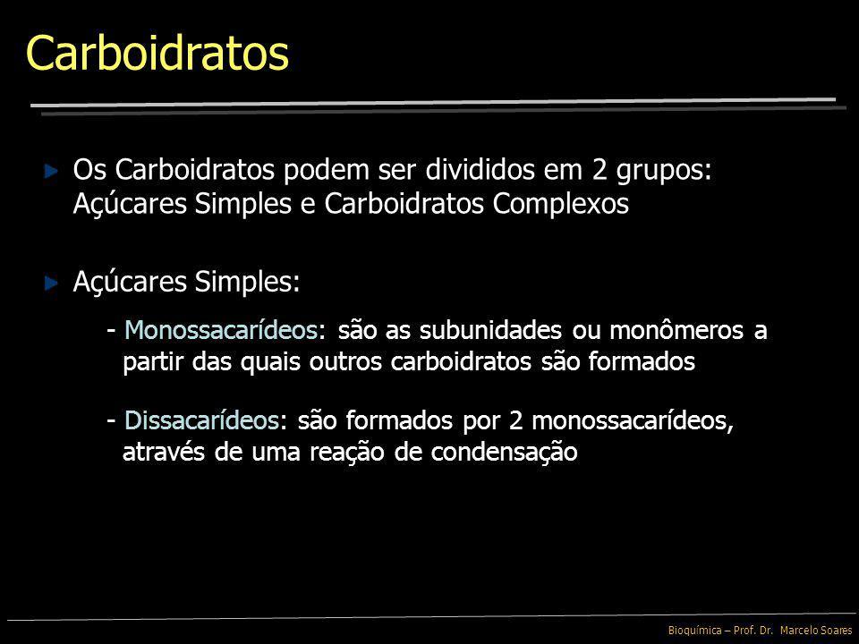 Carboidratos Os Carboidratos podem ser divididos em 2 grupos: Açúcares Simples e Carboidratos Complexos.