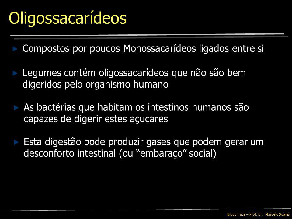 Oligossacarídeos Compostos por poucos Monossacarídeos ligados entre si