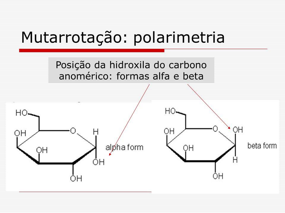 Mutarrotação: polarimetria
