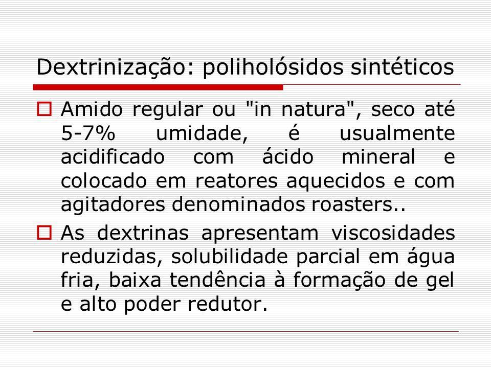 Dextrinização: poliholósidos sintéticos