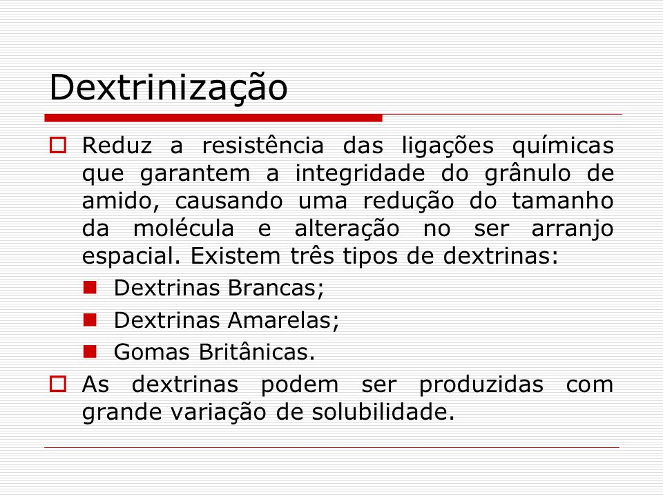 Dextrinização