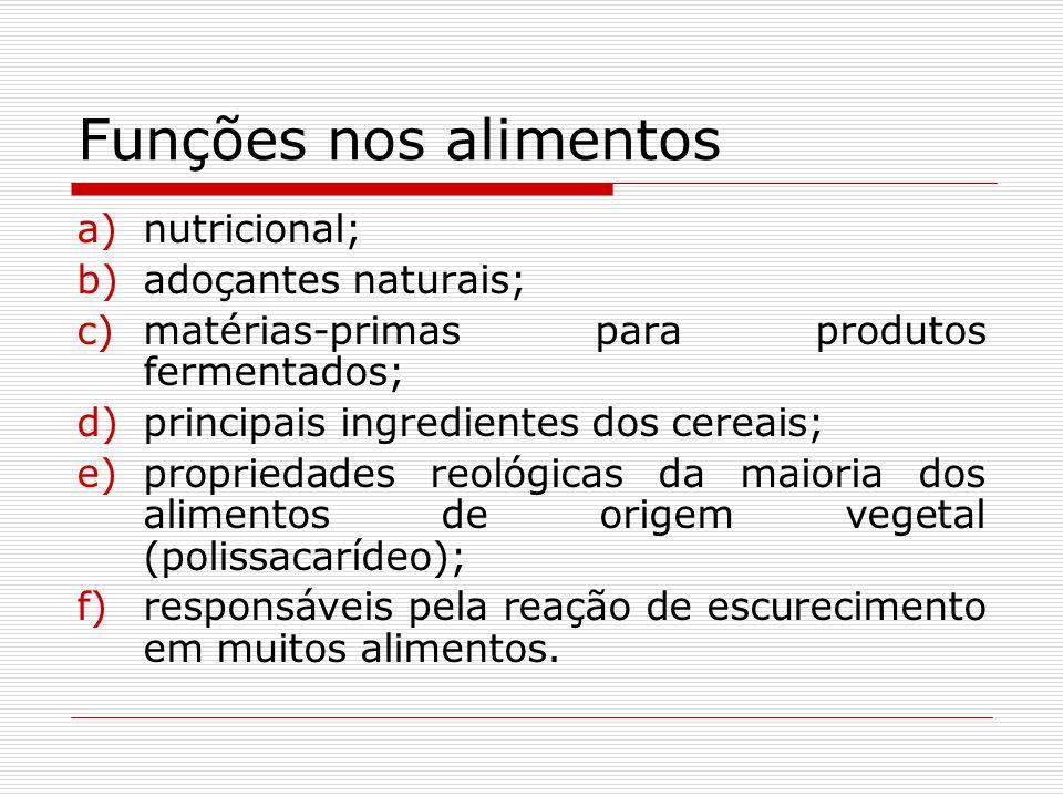 Funções nos alimentos nutricional; adoçantes naturais;