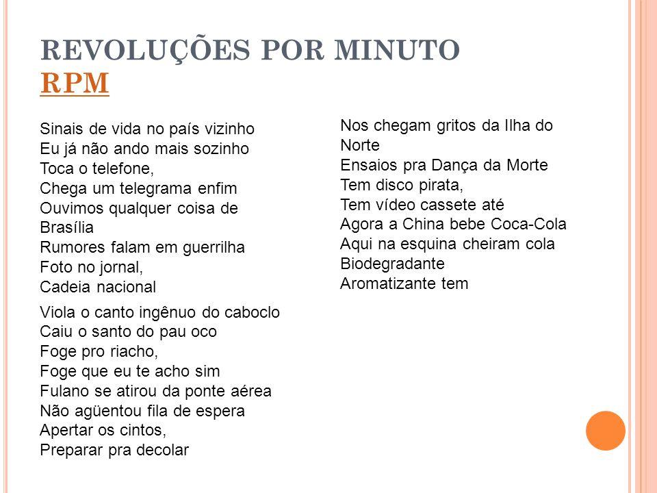 REVOLUÇÕES POR MINUTO RPM