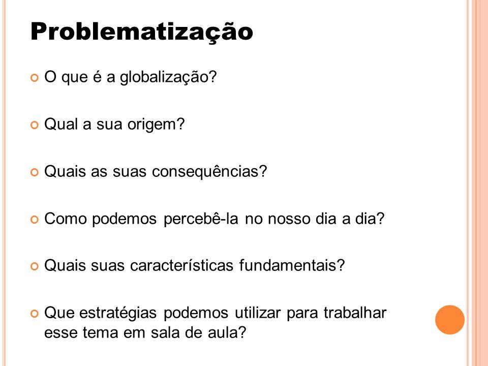 Problematização O que é a globalização Qual a sua origem