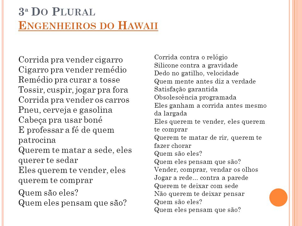 3ª Do Plural Engenheiros do Hawaii