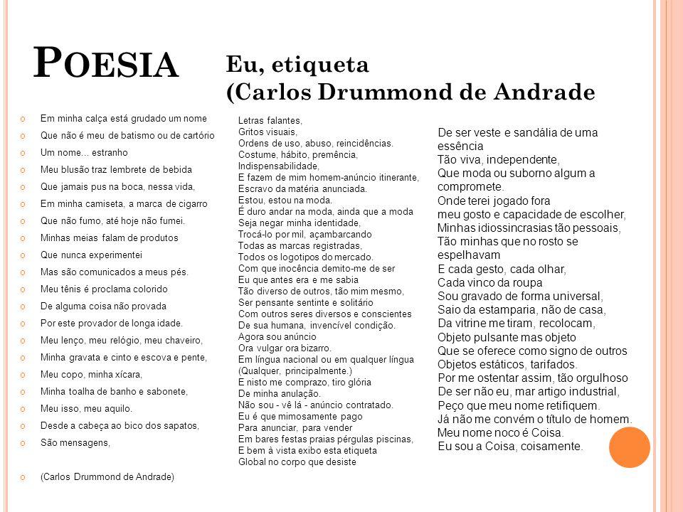 Poesia Eu, etiqueta (Carlos Drummond de Andrade