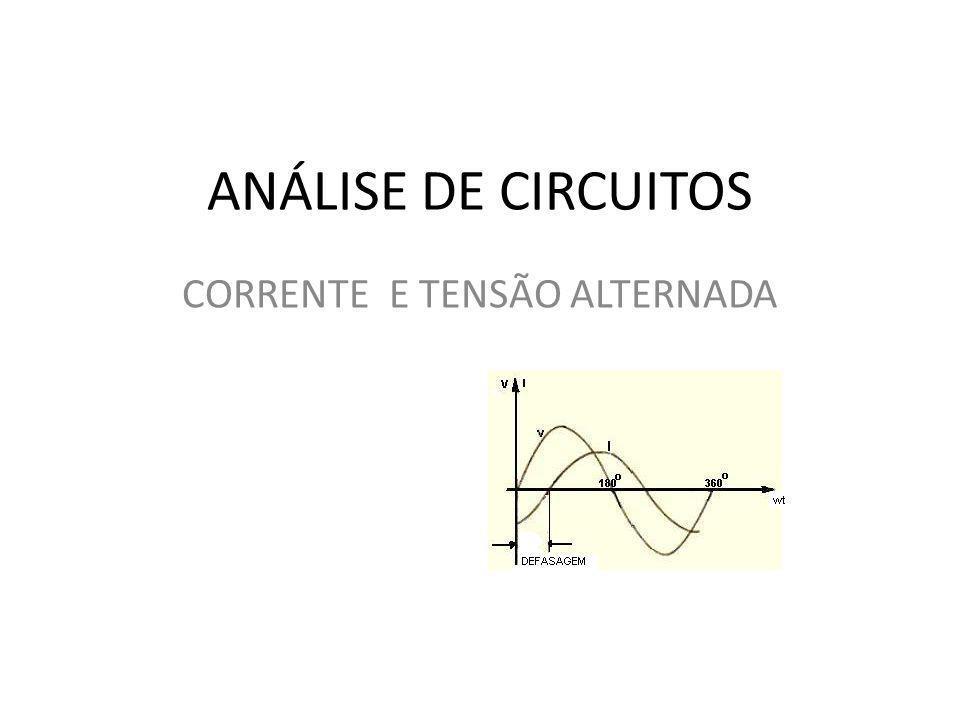 CORRENTE E TENSÃO ALTERNADA