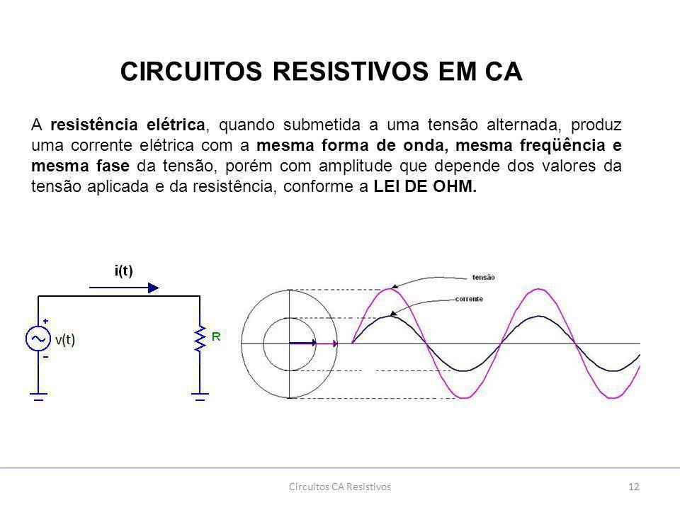 Circuitos resistivos em ca