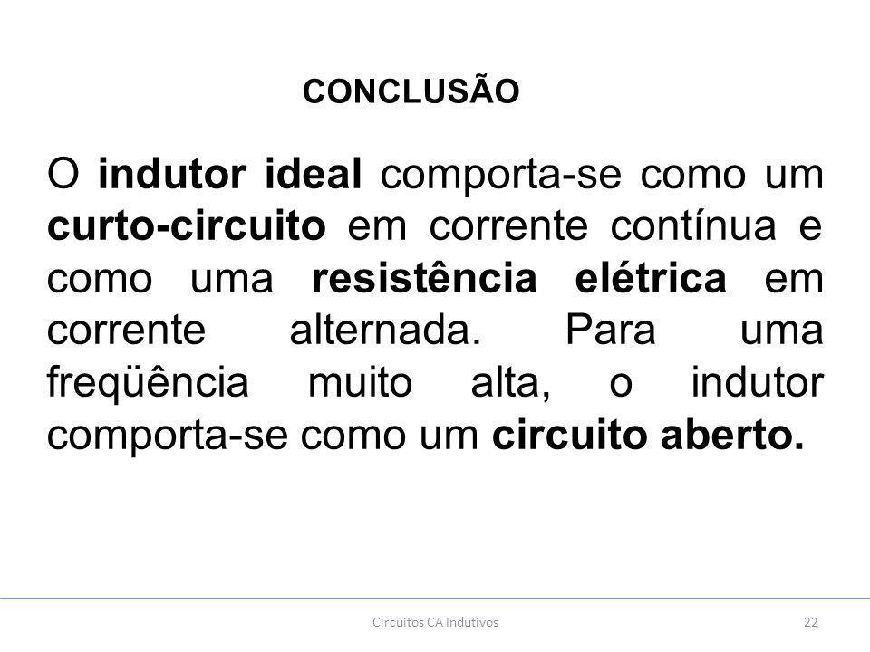Circuitos CA Indutivos