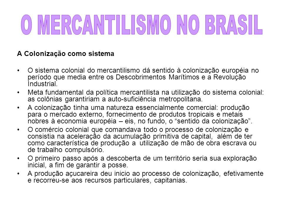 O MERCANTILISMO NO BRASIL