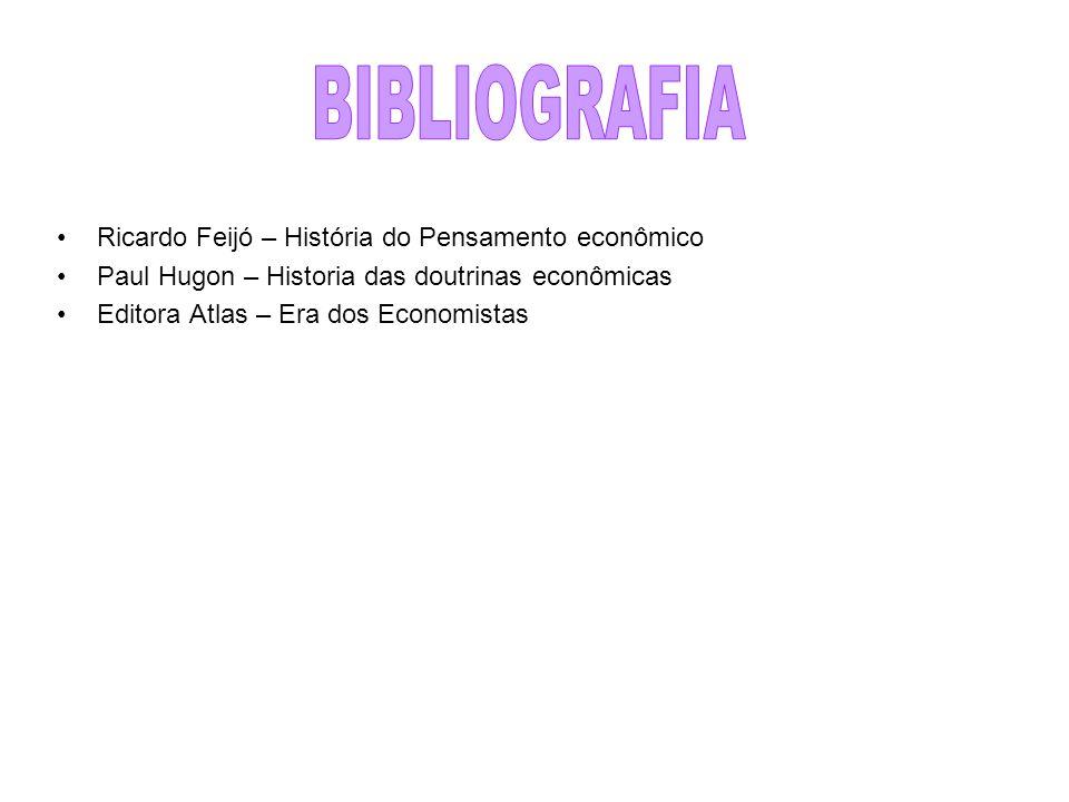 BIBLIOGRAFIA Ricardo Feijó – História do Pensamento econômico