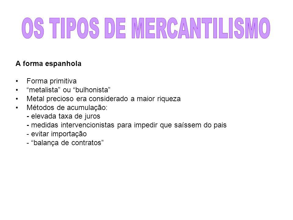 OS TIPOS DE MERCANTILISMO