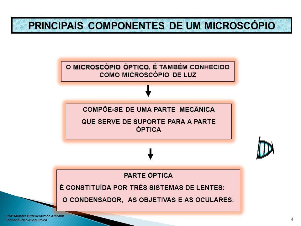 PRINCIPAIS COMPONENTES DE UM MICROSCÓPIO